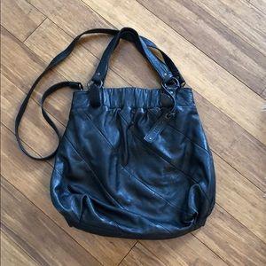 Max & Co black leather handbag